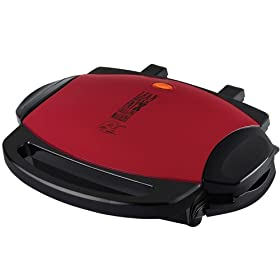 George Foreman GRP46R 72-Square-Inch Grill with Nonstick Removable Plates, Red