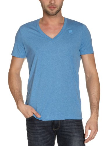 G-Star Men's Base Heather 2-Pack Short Sleeve Tee, Miles Blue, Small