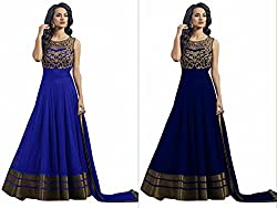 RR FASHION EMBROIDERED WORK SEMI STITCHED GOWN