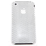 Rubberized Hard Mesh Case for Apple iPhone 3G/3GS (White).