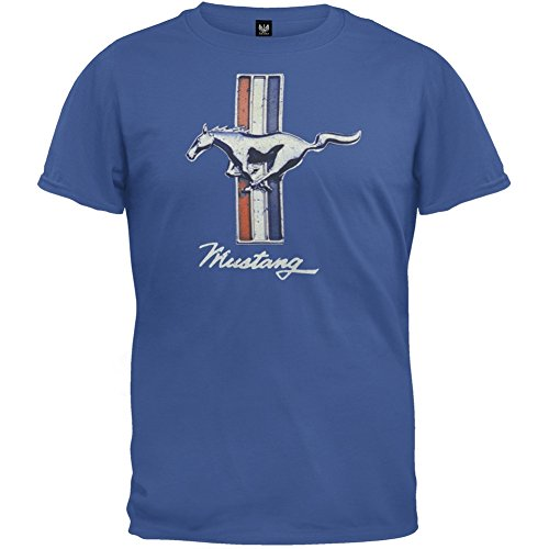 Ford - Vintage Mustang Logo Soft T-Shirt - Small (Ford Jersey compare prices)