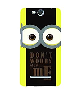 PrintVisa Cute Cartoon Me 3D Hard Polycarbonate Designer Back Case Cover for Micromax Bolt Q338