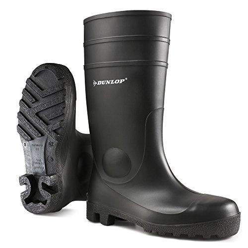 Dunlop-142PP-PROTOM-S5-ZWART-42-Unisex-Erwachsene-Halbschaft-Gummistiefel-Schwarz-SchwarzZwart-00-42-EU