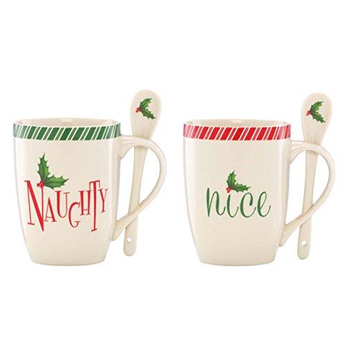 Lenox Holiday Naughty and Nice Mugs, Set of 2