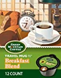 Green Mountain Breakfast Blend Coffee Travel Mug Keurig Vue Portion Pack, 72 Count