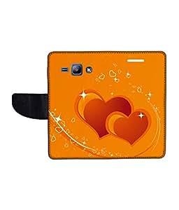KolorEdge Printed Flip Cover For Samsung Galaxy J1 Multicolor - (1476-45KeMLogo10320SamJ1)