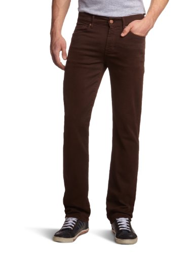 7 For All Mankind Men's SMLM380BR Slim and Skinny Trousers Brown Brown 31/34