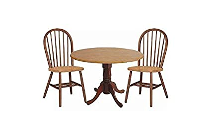 Round Pedestal Dual Drop Leaf Dinette Table & Chair Set