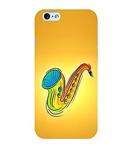 Colourful Saxophone 3D Hard Polycarbonate Designer Back Case Cover for Apple iPhone 6S