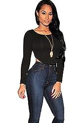 Allegrace Women Sexy Crop Top Shirts Lady Summer Tops