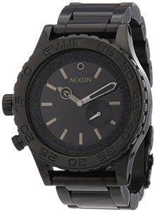Nixon A0351150-00 - Reloj analógico de cuarzo unisex con correa de acero inoxidable, color negro