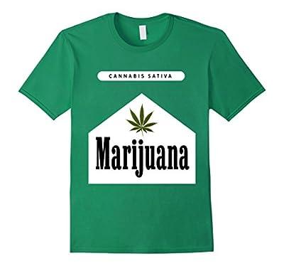 Marijuana Cannabis Sativa Drugs Cigarettes Funny T-Shirt
