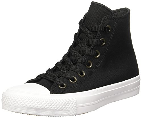 Converse Unisex Chuck Taylor All Star II Hi Black/White Basketball Shoe 7 Men US / 9 Women US