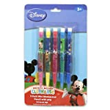Disney Mickey Mouse Club House 5pk Mini Mechanical Pencil with Soft Grip for Age 3+