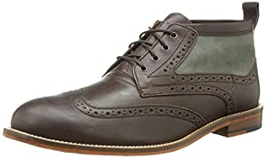 J. Shoes Men's Hyde Oxford,Dark Brown/Charcoal,10 M US