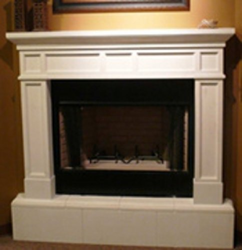 Mission Precast Fireplace Mantel and Surround in Paint Grade Gypsum (Precast Fireplace Mantel compare prices)