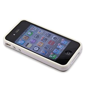 White iPhone 4 Bumper Case , Apple iPhone 4 White Case