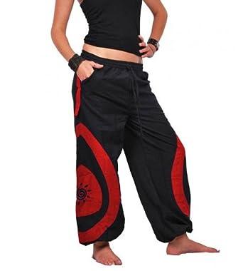 Unisex Psy Baggy Pants Hippie Goa Baumwoll Hose, Größe/Size:S/M