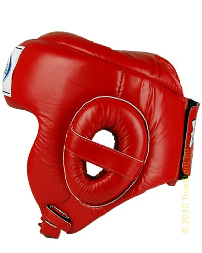 Fairtex Muay Thai Competition headguard HG6, red, XL