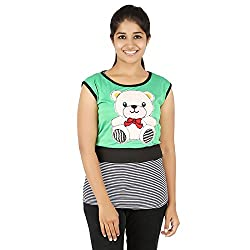 Knit Abc Garments Women's Character Top(KA-WTOP-DY-06-BL-GN-S_Multicolor_Small)