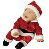 赤ちゃんサンタ ベルベッド風コスチューム 赤ちゃん用コスプレ衣装/Velvet Santa Infant サイズ:Infant (6-12 Months)
