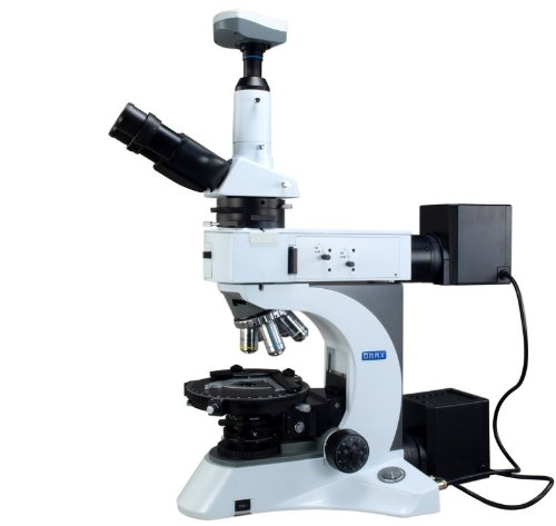 Omax 50-1000X Digital Infinity Trinocular Polarizing Metallurgical Microscope With Kohler Transmitted And Epi Reflected Illumination System And 5.0Mp Usb Camera
