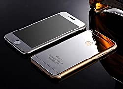Electroplated Mirror Front + Back Tempered Glass Screen Protector For Apple iPhone 6, 6s - Silver