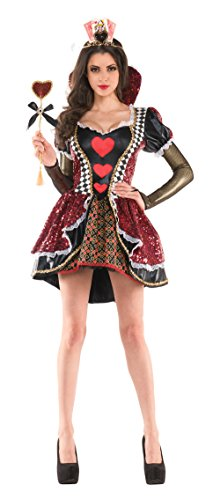 Party King Women's Queen Of Hearts Costume Dress