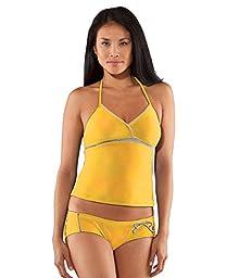 Under Armour Women\'s UA Single String Halterkini Top Medium Lemonade