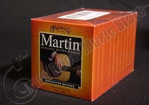 bulk 12 sets martin acoustic guitar strings light medium gauge phosphor bronze. Black Bedroom Furniture Sets. Home Design Ideas