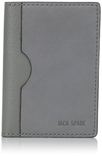 Jack Spade Men's Vertical Flap Wallet, Charcoal, One Size