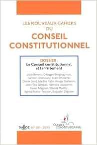 cahiers du Conseil constitutionnel, N° 38, 2013 : Le Conseil