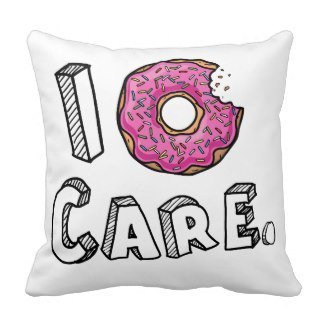 Lowest Prices! ArtoutletMF I Donut Care Funny Throw Pillows (White)