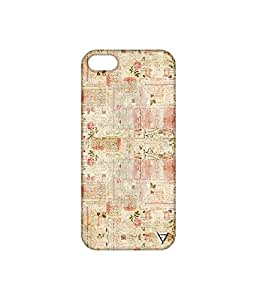 Vogueshell Newspaper Pattern Printed Symmetry PRO Series Hard Back Case for Apple iPhone 5