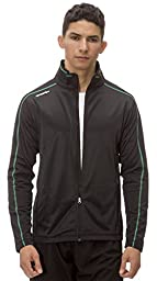 (AL003) AeroskinDry Mens Active Lifestyle Jacket in Black / Green Size: S