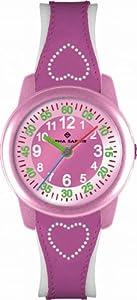 Alpha Saphir 354D - Reloj para niñas de cuarzo, correa de piel color varios colores