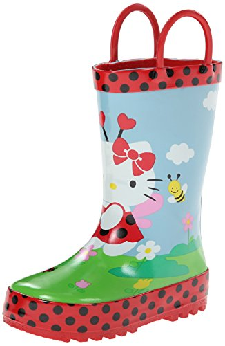 Western Chief Hello Kitty Ladybug Rain Boot (Infant/Toddler/Little Kid),Red,8 M US Toddler