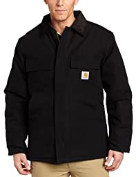 Carhartt Men\'s Arctic Quilt Lined Duck Traditional Coat C003,Black,Large