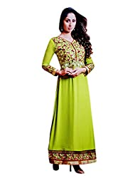 Zerel Women Georgette Dress Material (Ze-763 _Green)