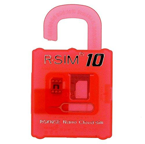 r-sim10赤NO07 SIMロック解除アダプタ認証プロダクトシール付 iPhone5s/5c/6/6plus対応/venturer resource全品検査非対応商品/ios8対応/rsim10/r-sim10/ R-SIM10 (r-sim10(本体)) [並行輸入品]