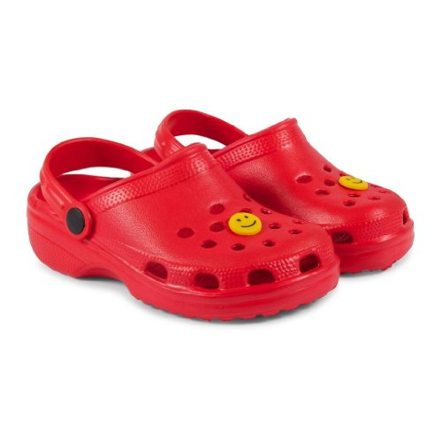Crocs Style Unisex-Kids, Boys/Girls Classic Le First Edition Backstrap Sandal Beach Clog Mule (UK Junior 10, Red)