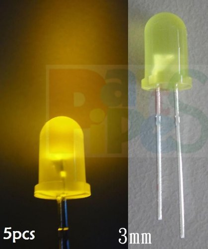 Hot Sale!!! Bargain Price!!! 5Pcs 3Mm Diffused Yellow Flashing Blink 3V-12V Led,Yyf3 In Business