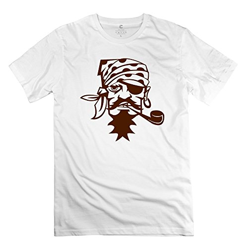 Pirate Caribbean Smoking Pipe Fantastic 100% Cotton Men's Tee Shirt