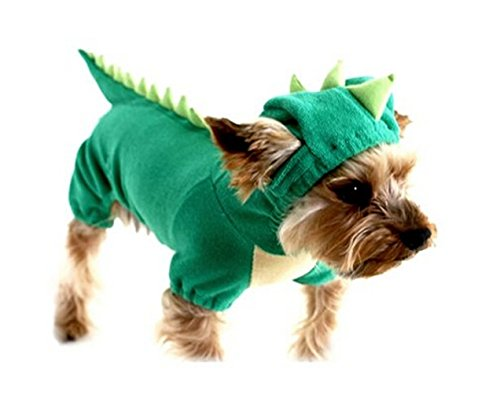 My Sky Dogs Cat Pets Jumpsuit Crocodile Clothes Godzilla Apparel Dragon inosaur Raptor Plush Costumes (XL)