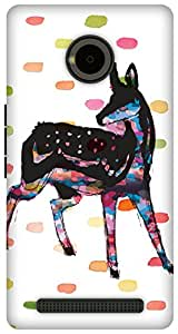 The Racoon Lean Oh Deer hard plastic printed back case / cover for Yu Yuphoria
