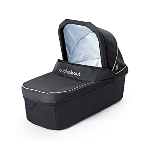 Out And About Nipper Double Carrycot Raven Black by OutnAbout