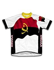 Angola Flag Short Sleeve Cycling Jersey for Women