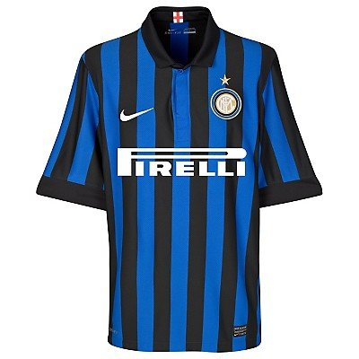 Nike Men's Blue Wide Vertical Striped Inter Milan Jersey