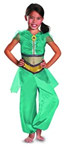 Disguise Disney Aladdin Jasmine Sparkle Classic Girls Costume, 4-6X