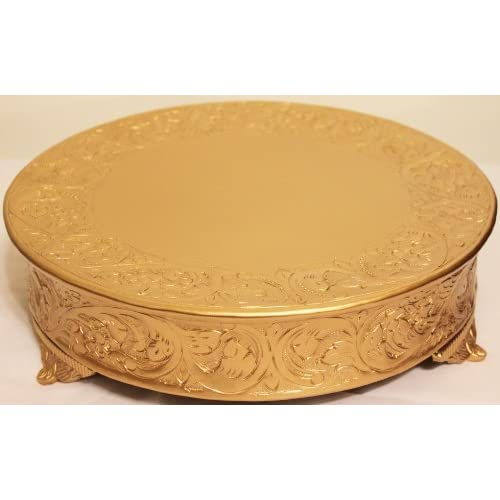 Inch Round Gold Cake Stand
